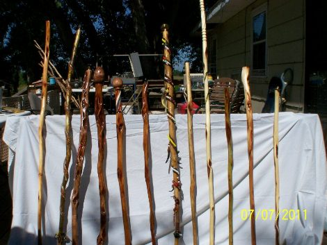 Native American Walking Sticks